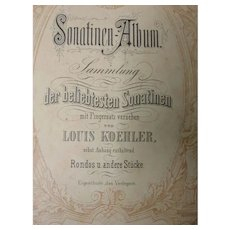 1800s German Music Book by Louis Koehler