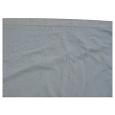Antique New Hampshire Hand Stitched Cloth Map Bedspread