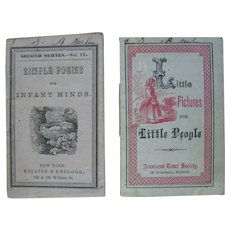 1800s Miniature Paperback Booklet Little Pictures for Little People