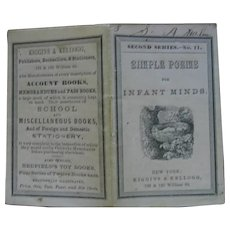 1800s Miniature Book Titled Simple Poems for Infant Minds
