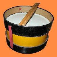 Vintage Metal Toy Drum for Teddy or Doll