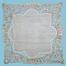 Handmade Lace Wedding Hankie for the Bride