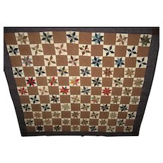 Lovely Vintage Star Burst Quilt or Wall Hanging