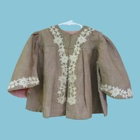 Young Childs Victorian Jacket with Lace Trims
