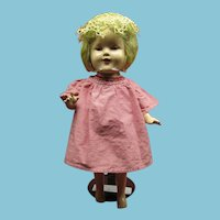 Composition Shirley Temple Type Doll 1930s 40s Cutie