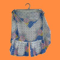 Vintage Apron made From Hankies