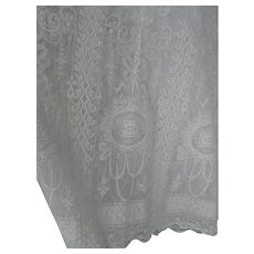 Early 20th Century Lace Curtains with Floral Design