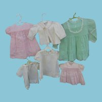 5 Vintage Baby Dresses and Jacket