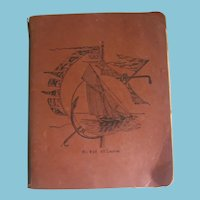 Early 1900s School Teachers Personal Notebook Filled with Lessons