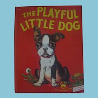 The Playful Little Dog Wonder Book from 1951 in Excellent Condition