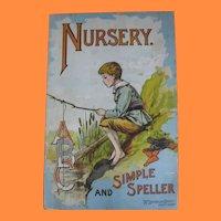 Rare and Early 1900s McLoughlin Bros NY Nursery and Simple Speller ABC Book