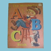 1940s The Wonderful ABC Book with Art and Verse by Milo Winter