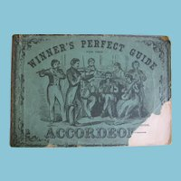 1861 Winners Perfect Guide for the Accordeon Music Book