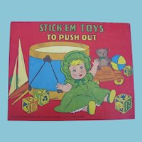 5 STICK'EM Push Out Books for Kids 1949 & 1950