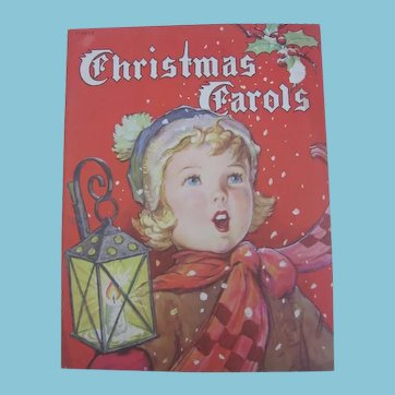 1940s Christmas Carols Book with Delightful Artwork