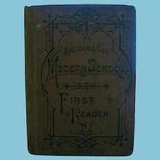 Rare 1880s Sheldon & Co's Modern School Readers Sample Copy for Schools
