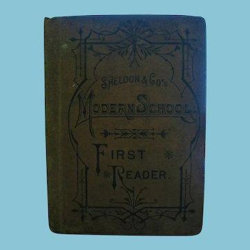Rare 1880s Sheldon & Co's Modern School Readers Sample Copy for Schools