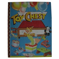 Hard to Find Toy Chest Book A Bonnie Book from 1955