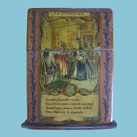 Lovely Made In France Paper Mache Playing Card Holder with Double Decks