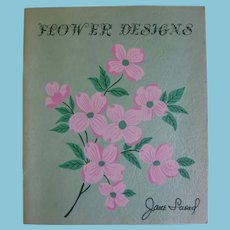 Colorful 1953 Flower Designs Book by Jane Snead