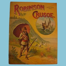 1889 Robinson Crusoe of the Robinson Crusoe Series by McLoughlin Bros NY