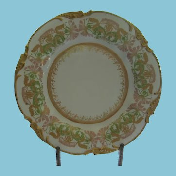Lovely Art Nouveau J Pouyat Limoges Hand Painted Plate 1891-1932