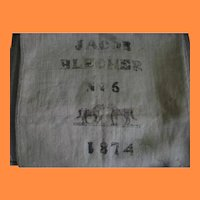 Antique Firebag or Fire Salvage Bag with Horses Belonged to Jacob Blecher 1874 No 6