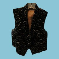 Antique Ladies Velvet Vest for Reenactments or Collections