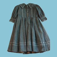 Victorian Era Boys Hand Stitched Blue Gray Dress