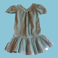 Vintage Baby Blue Drop Waist Doll Dress