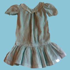 Vintage Baby Blue Drop Waist Doll Dress