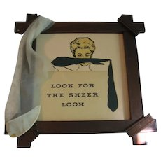 Vintage Framed Sign For Ladies Boutique