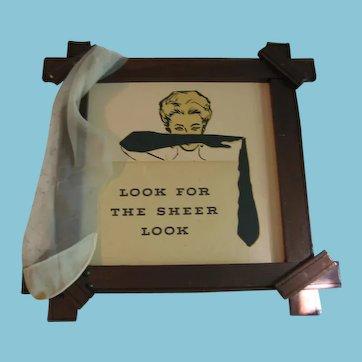 Vintage Framed Sign For Ladies Boutique