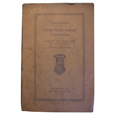Ladies of the Grand Army of the Republic Pa 1924 Convention Book
