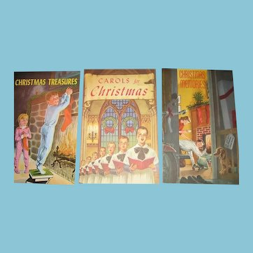 5 Vintage Christmas Give Away Booklets 1940-60s