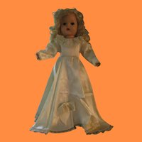 Vintage Satin Brides Gown for Doll
