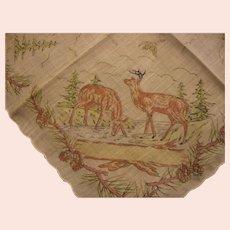 Vintage Hankie for the Female Hunter or Deer Collector