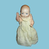 Early 1900s Amberg Newborn Babedoll Bisque Head Doll
