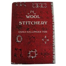 Wool Stitchery Book by Osma Gallinger Tod