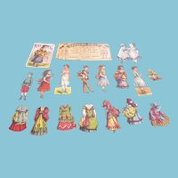 Antique 1800s and Early 1900s Collection of Paper Dolls