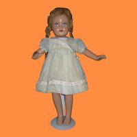 1930s Large Composition Doll with Original Dress