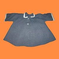 Vintage Blue Gray Doll Swing Coat