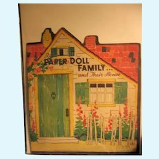 Rare 1934 The Paper Doll Family and Their House by Saalfield
