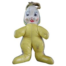 Vintage Toy Oilcloth Easter Bunny