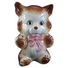 Vintage Ceramic Teddy Bear Bank