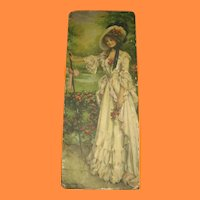 Vintage Lovely Lady Decorated Candy Box by J Knowles Hare Jr