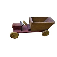 Old Wooden Dump Truck with Lift Bed