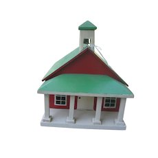Handmade Toy One Room Schoolhouse with Belfry