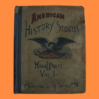 2 1800s Books by Mara Pratt for Children American History and Colonial Children Stories