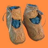 Antique Handwork Precious Baby Booties or Shoes